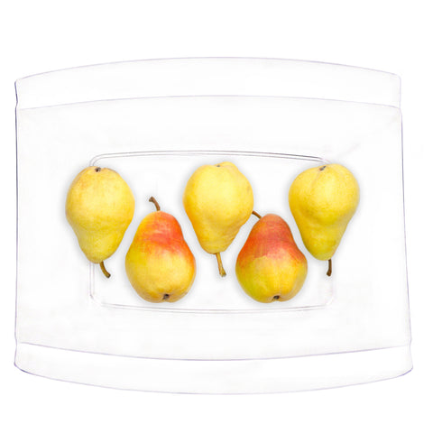 14 x 14 Crescent Clear Plastic Tray/Case of 24