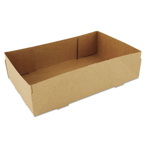 4-Corner Pop-Up Food And Drink Tray, 8 5/8 X 5 1/2 X 2 1/4, Brown/Case of 500