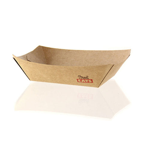 5.9 x 8.5 x 1.6 Kraft Paper Boat/Case of 1000