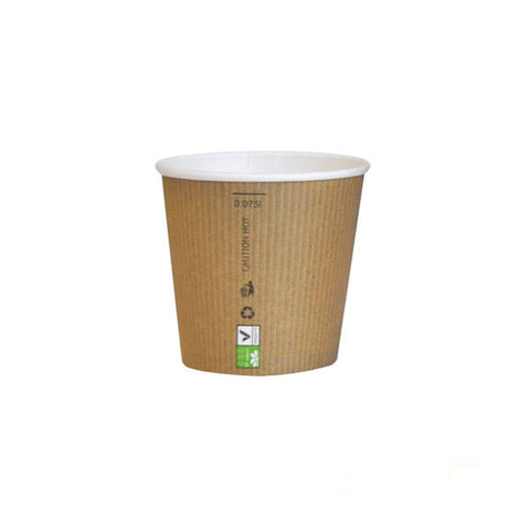 Eco Friendly 3 Oz. Kraft Rigid Outside Paper Cup/Case of 1000