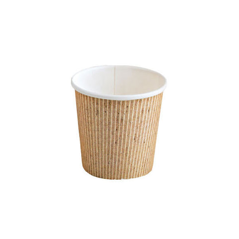 Eco Friendly 4 Oz. Kraft Rigid Outside Paper Cup/Case of 1000