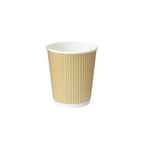 Eco Friendly 4 Oz. Beige Rippled Outside Paper Cup/Case of 1000