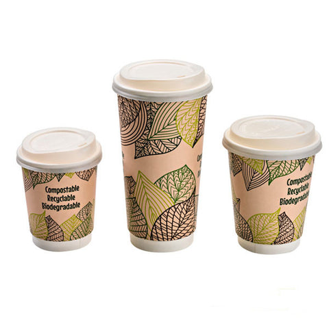 Eco Friendly PLA Dome Lid for 8 Oz. Paper Cup/Case of 1000