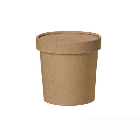 16 Oz. Kraft Soup Cup with Lid/Case of 500