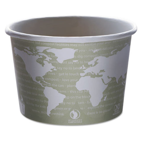 World Art Renewable & Compostable Food Container - 16oz., 25/pk, 20 Pk/Case