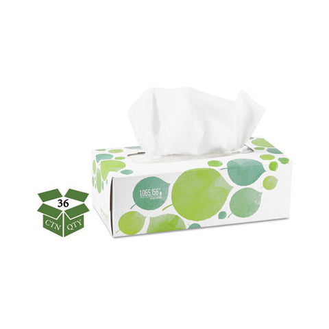 100% Recycled Facial Tissue, 2-Ply, 175/box, 36/Case