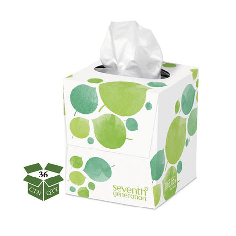 100% Recycled Facial Tissue, 2-Ply, 85/box, 36/Case