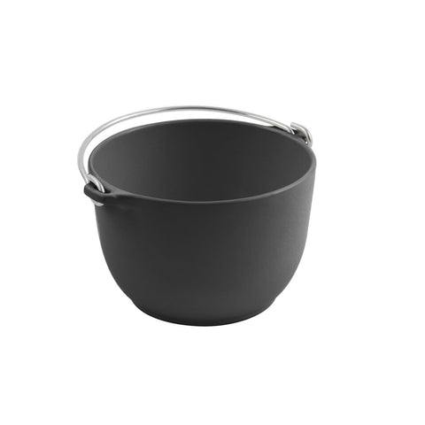 1 1/2 qt 6 3/4 dia. x 4 1/2 H inch Soup Tureen with Bail Handle Sandstone Black
