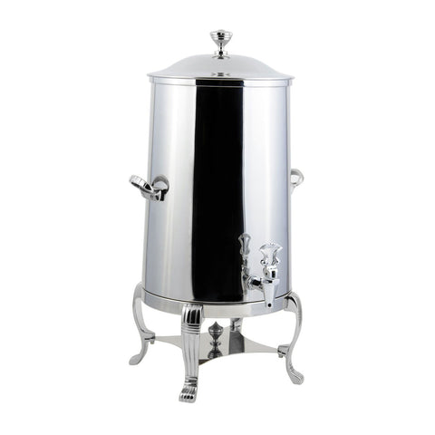 1 1/2 gal Aurora Insulated Coffee Urn with Chrome Trim with Contemporary Handle