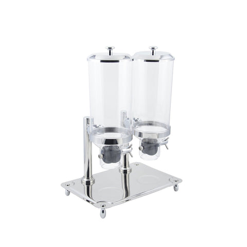 64 oz 17 1/4 x 27 H inch Cereal Dispenser Double