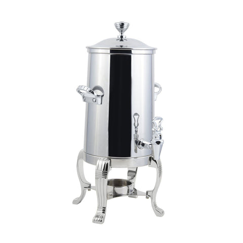 2 gal Aurora Single Wall Non Insulated Urn with Chrome Trim with Contemporary Handle