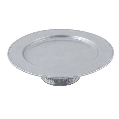 13 x 3 1/4 inch Cake Tray Pewter Glo