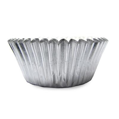 1 1/2 x 3 x 2 Silver Foil Baking Cups/Case of 1728