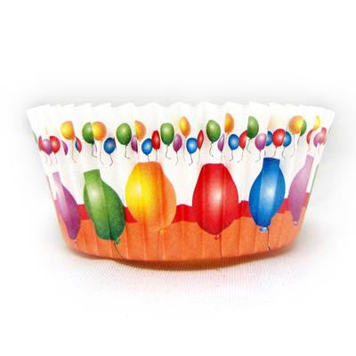 1 1/2 x 3 x 2 Balloon Baking Cups/Case of 1728