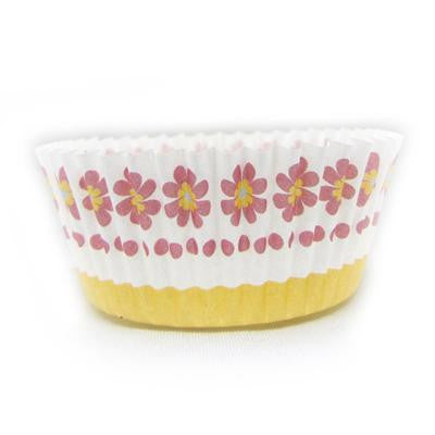 1 1/2 x 3 x 2 Pink Daisy Baking Cups/Case of 1728