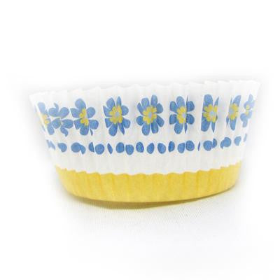 1 1/2 x 3 x 2 Blue Daisy Baking Cups/Case of 1728