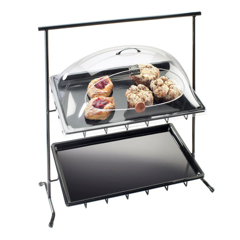23W x 26D x 13H Black Sloped Iron Display Stand