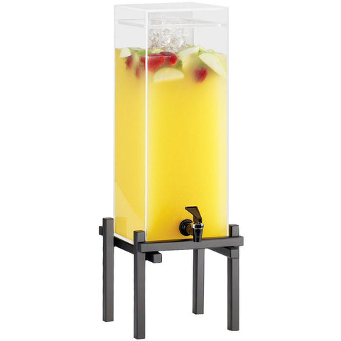 10.25W x 10.5D x 17.625H One by One Iced Beverage Dispenser Black 1.5 Gallon