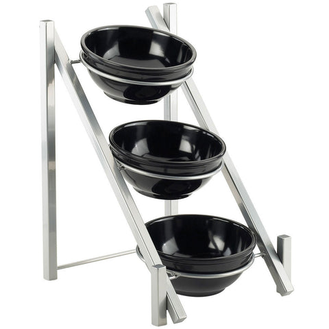 11.625W x 15.625D x 18.375H One by One 3 Tier Bowl Display Silver