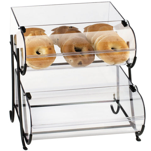 15.5W x 17.625D x 17.375H Iron Display with Round Nose Bins 2 Tier