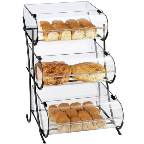 17.5W x 16.375D x 25H Iron Display with Round Nose Bins 3 Tier