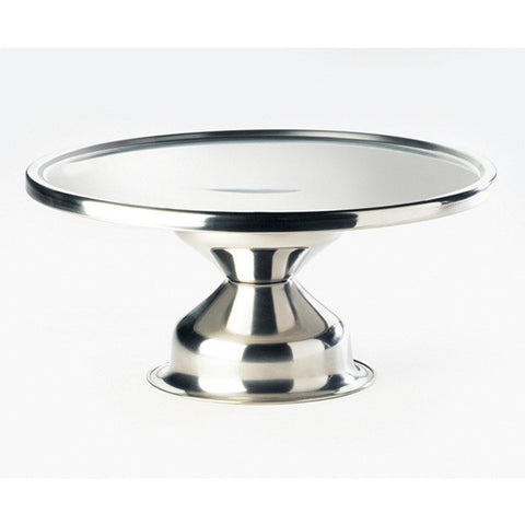 12W x 12D x 7H Stainless Steel Cake Stand