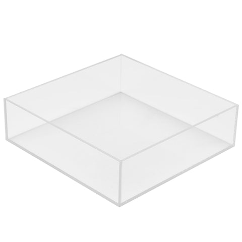 10W x 10D x 3H Clear 5 Sided Box