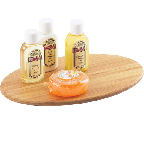 9W x 6D x .125H Oval Bamboo Amenity Tray/Case of 24
