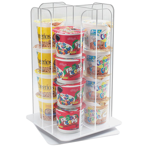 10W x 10D x 16.75H Revolving Cup/Cereal Dispenser