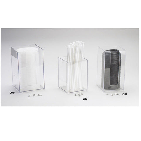 4.5W x 4.5D x 8H Create Your Own Napkin/Lid/Straw Organizer Clear