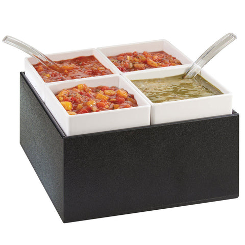 10.5Wx10.5Dx7H Chilled Salsa/Dressing Server
