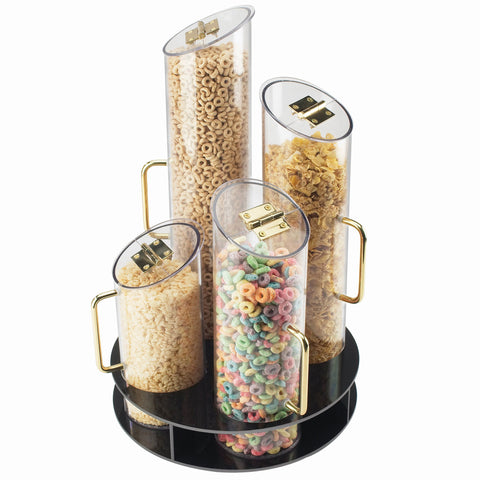 12DIA x 20H Turntable Cereal Dispensers ABS Base
