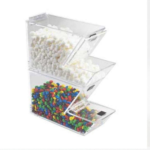 4W x 11D x 7H Stackable Topping Dispenser