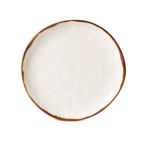 Rustic Mill Rustic Mill 7 Inch Irregular Round Coupe Plate/Case of 12
