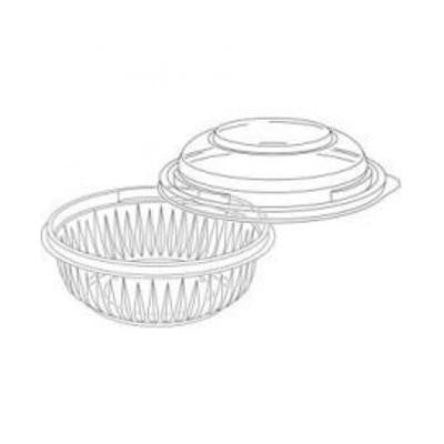 12 oz PET Presenta Plastic Clear Bowl With Dome Lid/Set of 252