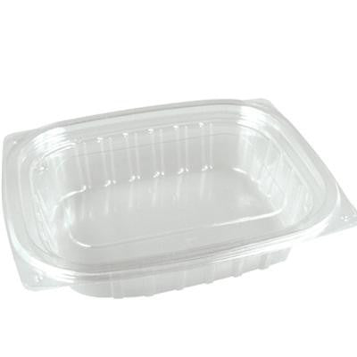 12 OZ Clear Rectangular Container with Flat Lid/Set of 252