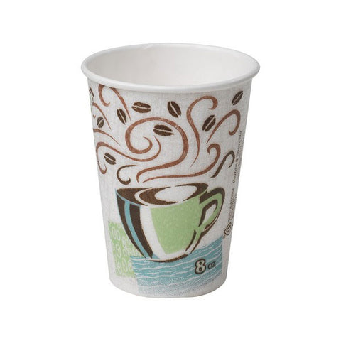 8 oz PerfecTouch Coffee Design Insulated Paper Hot Cup/Case of 1000