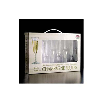 1 Piece 5 OZ Plastic Champagne Flute In a Gift Box/Case of 96