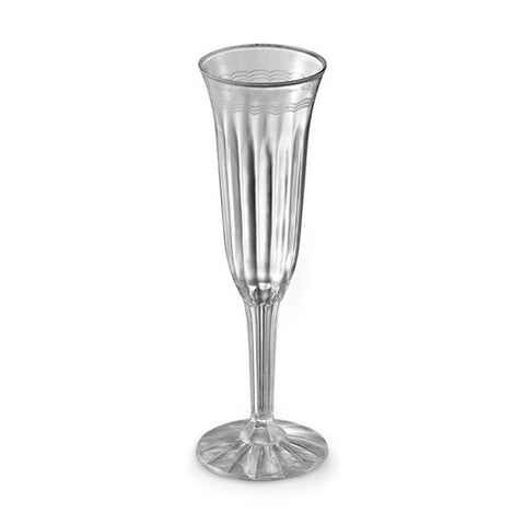 1 Piece 5 oz Plastic Champagne Flutes/Case of 96