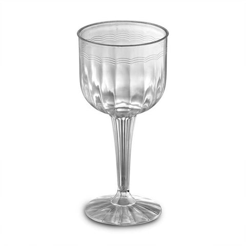 1 Piece 8 oz Plastic Wine Goblets/Case of 96