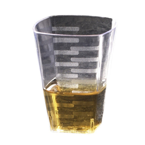 1 Oz Clear Plastic Square Shot Glasses/Sold as 288