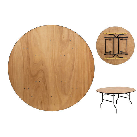 60 Inch Birch Round Folding Table
