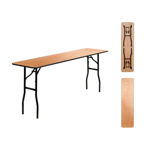 72L x 18W Birch Folding Conference Table