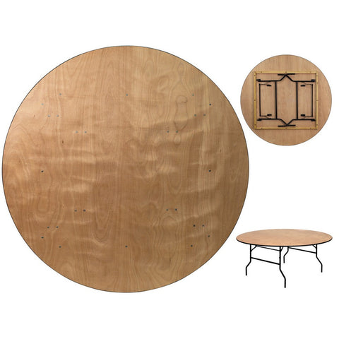 72 Inch Birch Round Folding Table