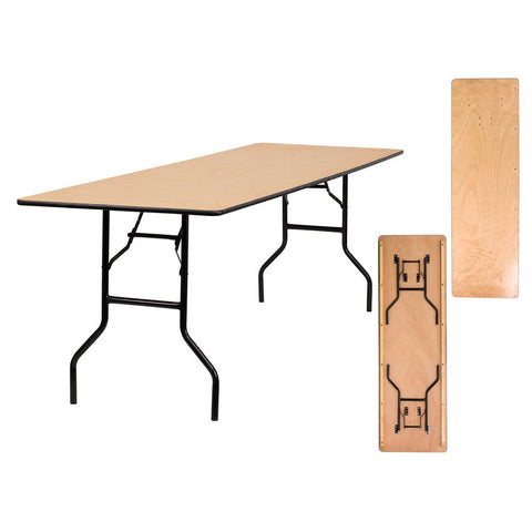 96 Inch Birch Folding Banquet Table