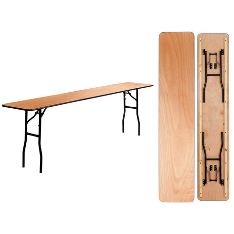 96 Inch Birch Folding Conference Table