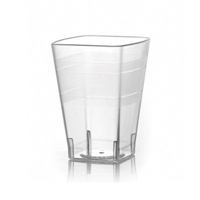 10 oz Clear Square Plastic Tumblers/Case of 168