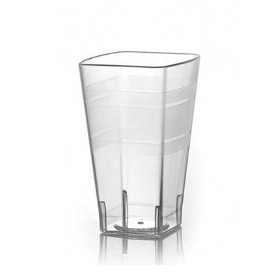 12 oz Clear Square Plastic Tumblers/Case of 168
