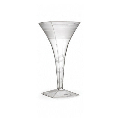 1 Piece 8 oz Plastic Square Martini Glasses/Case of 72
