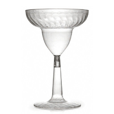 12 oz Plastic Waves Margarita Glass with Clear Base/Case of 144